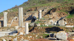 De Ruïnes van Ephesus Royalty-vrije Stock Foto's