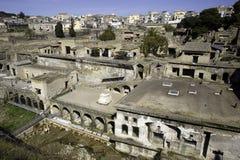 De ruïnes van Ercolano Stock Afbeelding