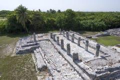 De ruïnes van Gr Rey in Cancun Royalty-vrije Stock Foto
