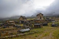 De ruïnes van graven stock foto