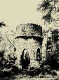 De ruïnes van Grunge Stock Foto
