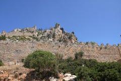 De ruïnes van heilige Hilarion Castle Royalty-vrije Stock Afbeeldingen