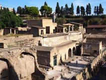 De ruïnes van Herculaneum Stock Afbeelding