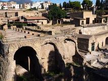 De ruïnes van Herculaneum Stock Foto's