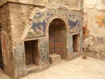 De ruïnes van Herculaneum, Origineel Mozaïek Stock Fotografie