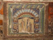 De ruïnes van Herculaneum, Origineel Mozaïek Royalty-vrije Stock Foto's