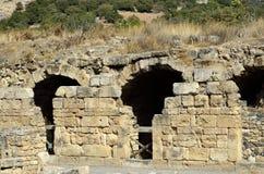De ruïnes van het Agrippapaleis, Israël royalty-vrije stock afbeeldingen