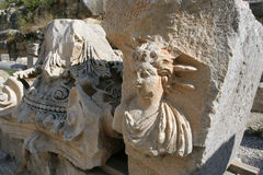 De ruïnes van het amfitheater Royalty-vrije Stock Fotografie