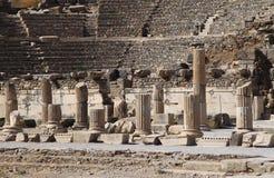 De ruïnes van het Amfitheater van Turkije Ephesus Royalty-vrije Stock Fotografie