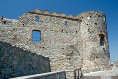 De ruïnes van het Devinkasteel (864 - 15de eeuw), Bratislava, Slowakije Royalty-vrije Stock Foto's