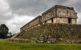De ruïnes van het gouverneurs` s Paleis in Uxmal royalty-vrije stock afbeelding