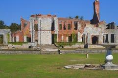 De ruïnes van het herenhuis Stock Afbeelding