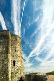 De Ruïnes van het kasteel Stock Afbeelding