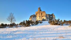 De ruïnes van het kasteel Stock Foto's