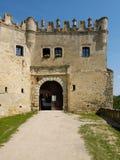 De ruïnes van het kasteel Boskovice Stock Foto