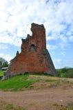 De ruïnes van het kasteel in de stad van Novogrudok wit-rusland Stock Afbeeldingen
