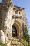 De ruïnes van het kasteel Ojcow polen Stock Foto's
