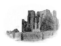 De ruïnes van het Kennilworthkasteel vector illustratie