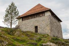 De ruïnes van het Kleine Kasteel in Kamnik, Royalty-vrije Stock Foto
