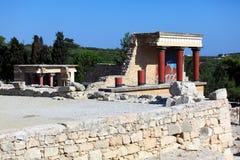 De Ruïnes van het Knossospaleis, Heraklion Kreta Stock Foto