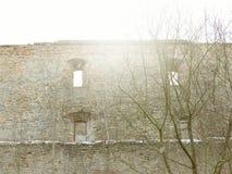 De ruïnes van het oude kasteel Royalty-vrije Stock Fotografie