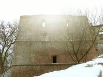 De ruïnes van het oude kasteel Royalty-vrije Stock Foto's
