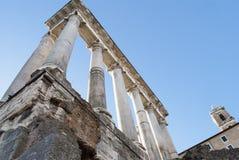De ruïnes van het oude roman forum Stock Foto