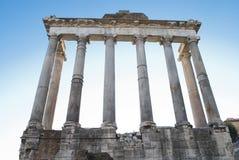 De ruïnes van het oude roman forum Stock Fotografie