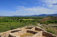De ruïnes van het Sinaguadorp Stock Foto