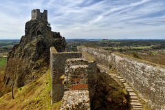 De ruïnes van het Troskykasteel, Tsjechische Republiek Royalty-vrije Stock Fotografie
