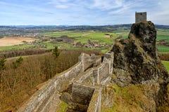 De ruïnes van het Troskykasteel, Tsjechische Republiek royalty-vrije stock foto's