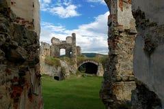 De ruïnes van het Zvireticekasteel Stock Foto