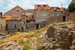 De Ruïnes van huizen in Dubrovnik Royalty-vrije Stock Fotografie