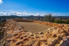 De ruïnes van Iberiërs in Vallesa van Paterna royalty-vrije stock afbeeldingen