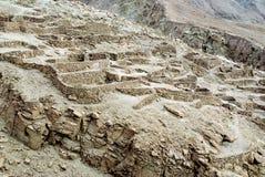 De ruïnes van Inca, Chili royalty-vrije stock foto's