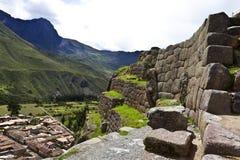 De ruïnes van Inca van Ollantaytambo - Heilige Vallei - Peru Stock Fotografie