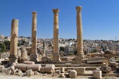 De ruïnes van Jordanië - Jerash- Royalty-vrije Stock Foto's