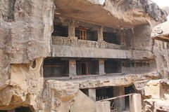 De ruïnes van Kailasa-tempel, hollen Nr 16, Ellora-holen, India uit Royalty-vrije Stock Foto