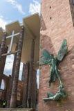 De Ruïnes van de de Kathedraalkerk van Coventry in Coventry het UK stock foto's