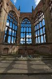 De Ruïnes van de de Kathedraalkerk van Coventry in Coventry het UK royalty-vrije stock fotografie
