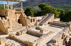 De ruïnes van Minoan-beschaving Royalty-vrije Stock Afbeeldingen