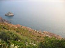 De Ruïnes van Nebida - Sardinige Royalty-vrije Stock Afbeelding