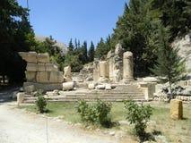 De Ruïnes van Niha, Libanon Stock Afbeelding