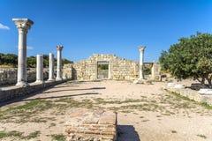 De ruïnes van de oude stad Hersonissos Stock Foto