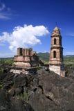 De ruïnes van Paricutin Royalty-vrije Stock Foto's