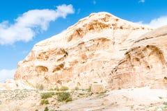 De ruïnes van Petra riepen Rose City Petra is één van de nieuwe Zeven Wereldwonders stock fotografie