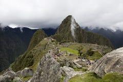 De Ruïnes van Picchu van Machu in Peru Stock Afbeeldingen