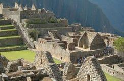 De ruïnes van Picchu van Machu stock afbeeldingen