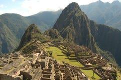 De ruïnes van Picchu van Machu stock fotografie