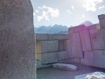 De Ruïnes van Picchu van Machu royalty-vrije stock afbeelding